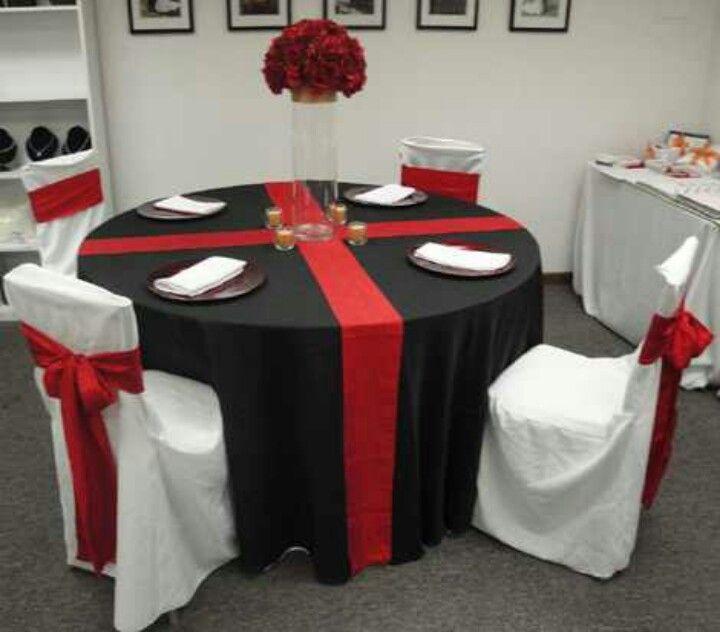 Red n black wedding decorations