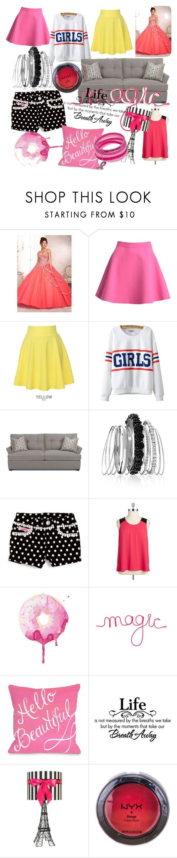 """IT'S FOR YOU, GIRLS)"" by dinka-linka ❤ liked on Polyvore featuring MSGM, QNIGIRLS, Chicnova Fashion, Avenue, Lipstik, BB Dakota, NYX and plus size clothing"