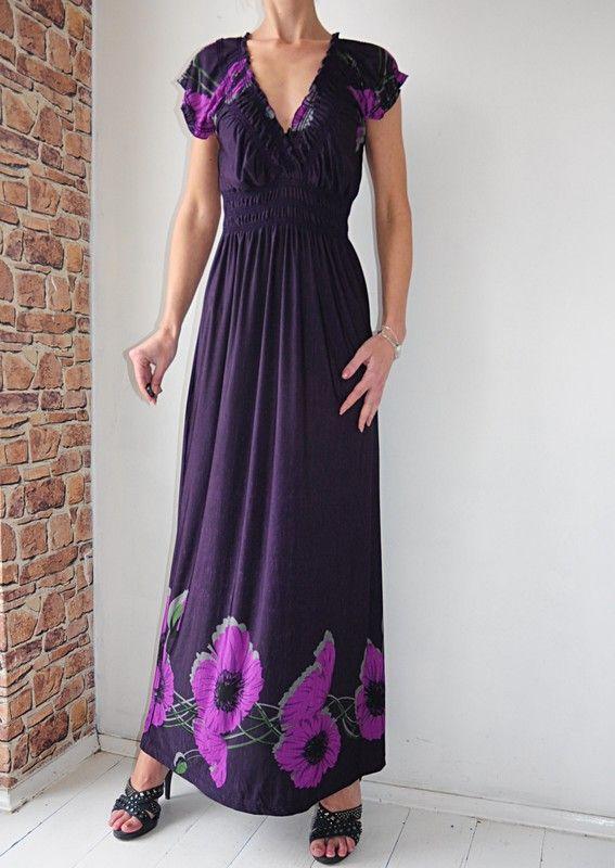 Apricot Sukienka Fioletowa Kwiaty 36 Vinted Dresses Fashion Short Sleeve Dresses