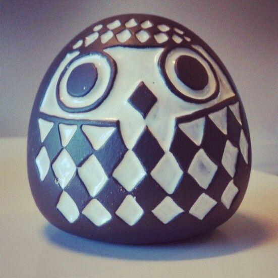 Vintage ceramic owl piggy bank by Gabriel keramik, Sweden