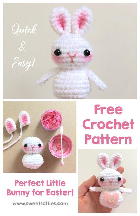 63 Free Crochet Bunny Amigurumi Patterns ⋆ DIY Crafts | 879x570