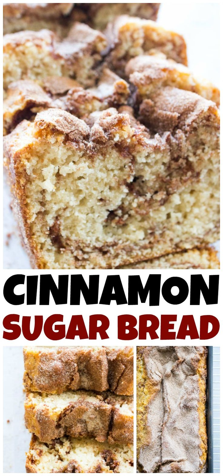 CINNAMON SUGAR BREAD is like eating a cinnamon & sugar cake donut but better. Easy & delicious this bread is ready to de…