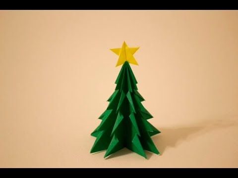 【折紙(origami)】クリスマスツリー Christmas-tree - YouTube