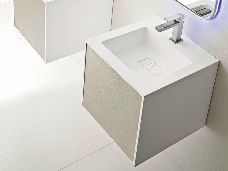 Lavabo Carré Suspendu Collection Giano By Rexa Design | Design Imago Design