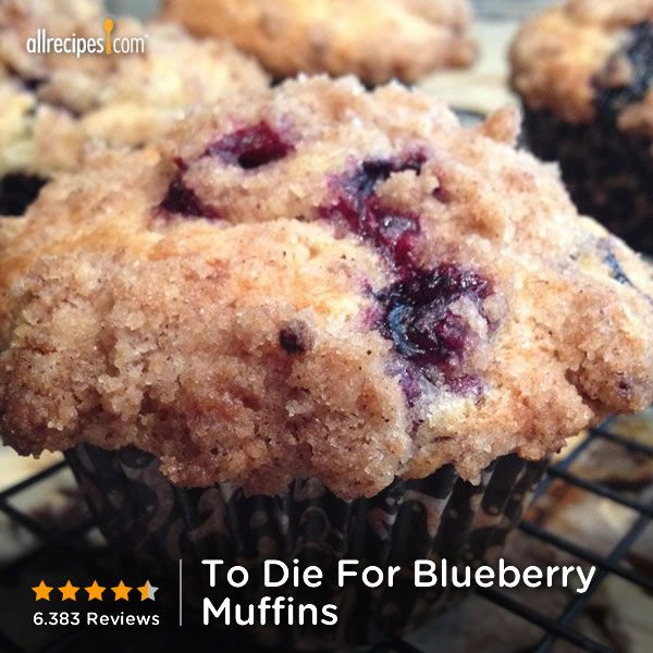 Juy 11- National Blueberry Muffin Day | To Die For Blueberry Muffins