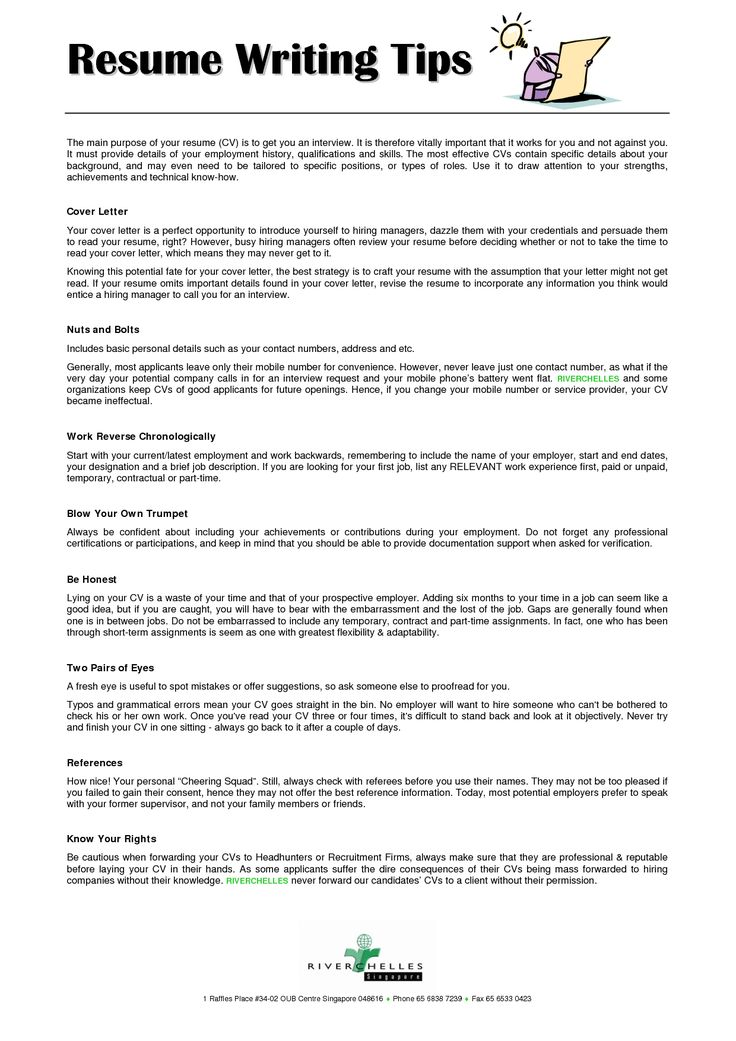 296 best images about resume on pinterest - Tips On Writing Resume