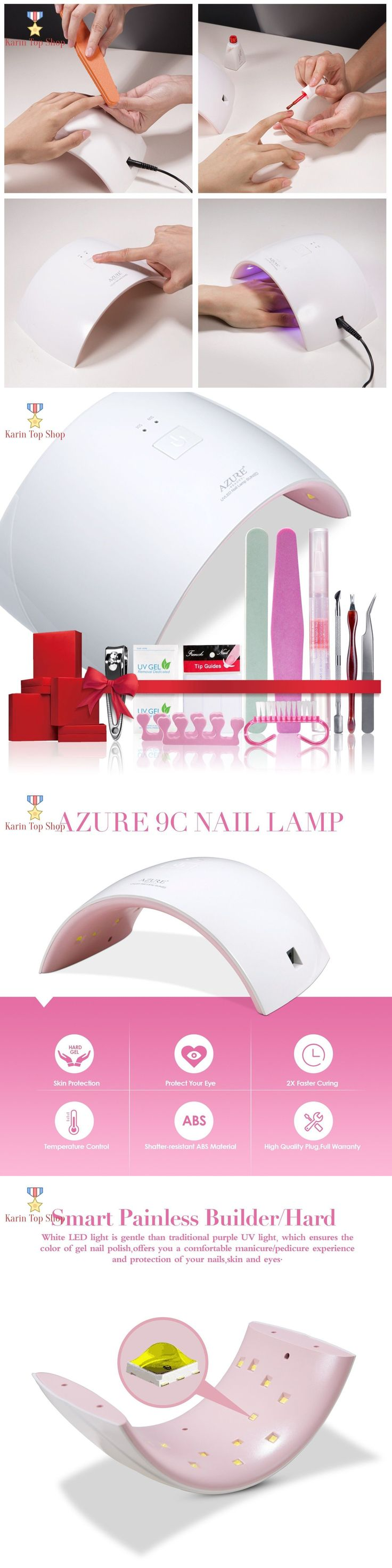 Nail Dryers and UV LED Lamps: Professional Starter Kit Nail Dryer Lamp Machine Gel Polish 24W Led Uv Nail Tool -> BUY IT NOW ONLY: $35.95 on eBay!