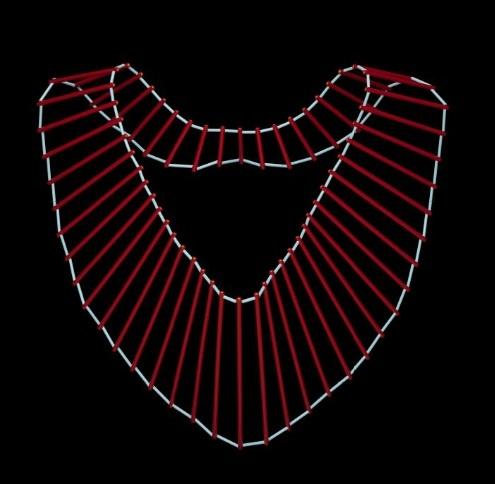 Cowl Collar | Julia Manheim.  Plastic Tubing. c. 1983