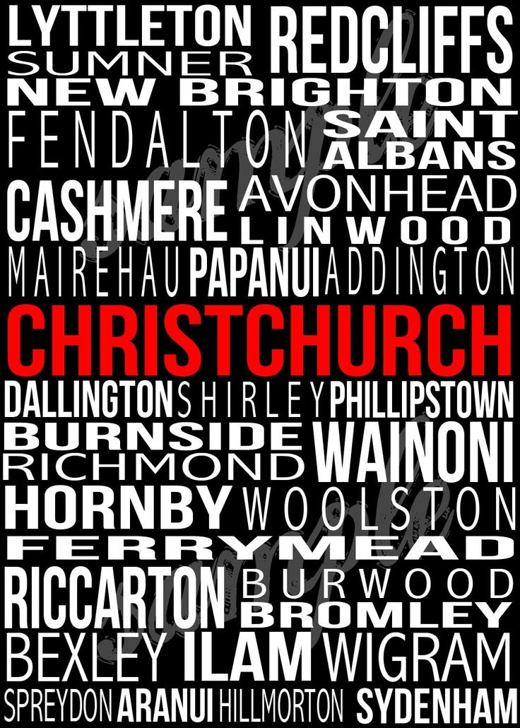 CHRISTCHURCH New Zealand Poster in Printable by BonTempsBeignet.