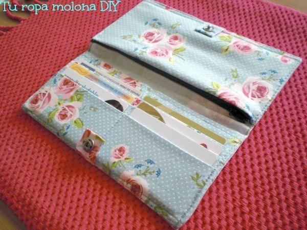 DIY: tutorial para hacer una cartera-monedero, idea para regalar el día de la madre