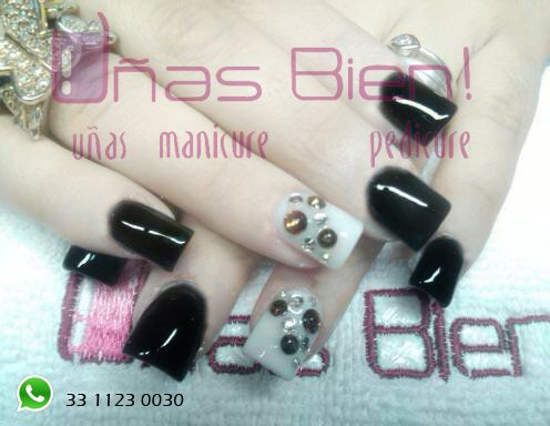#black #nails #shiny