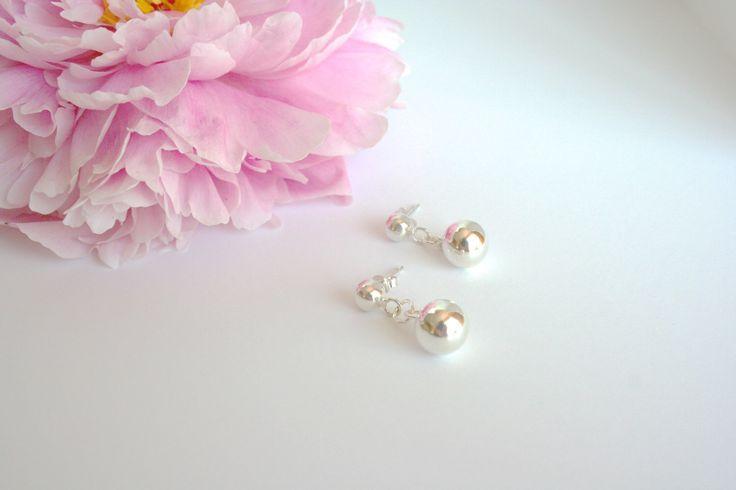 Sterling Silver Ball Drop Stud Earrings by 2BeadingHeartsJewels on Etsy https://www.etsy.com/listing/240190493/sterling-silver-ball-drop-stud-earrings