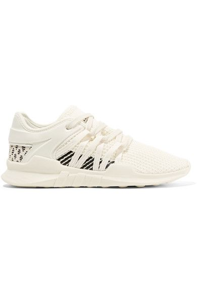 on sale f20f8 02a81 adidas Originals | EQT Racing ADV faux suede-trimmed stretch ...