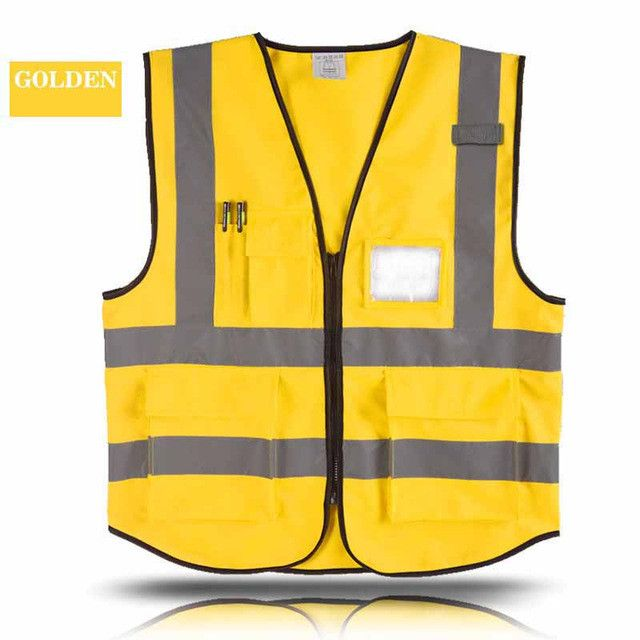 Multiple Pockets Building Construction Vest Safety Cycling Fishing Reflective Clothing Sanitation