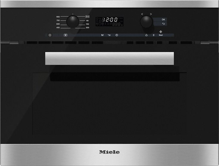 M 6260 TC - Built-in microwave oven with top controls for maximum combination options.--Stainless steel/CleanSteel