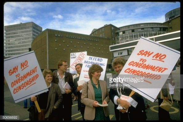 Demonstrators from the British Broadcasting Corporation and... News Photo | Getty Images