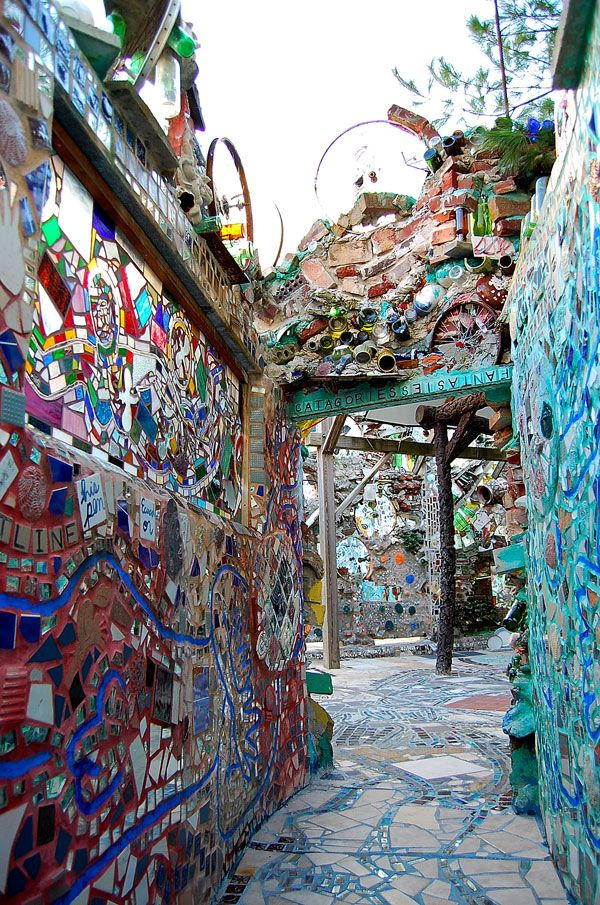 Philedelphia's Magic Garden. Established by Isaiah Zagar in a vacant city lot; it has grown to cover an entire block   - Explore the World, one Country at a Time. http://TravelNerdNici.com