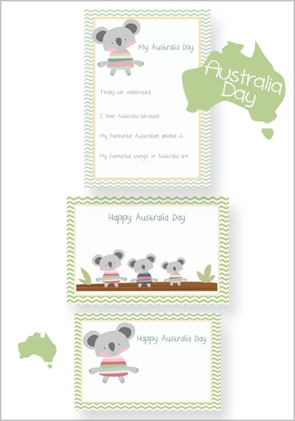 Free Australia Day Koala Printables - Lovely Living - Love The Life You're Living
