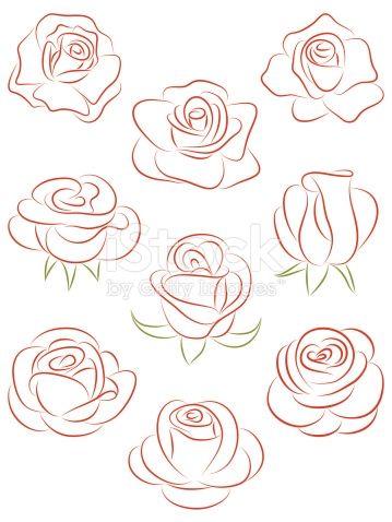 Les 25 meilleures id es de la cat gorie dessin rose sur - Dessiner des rosaces ...