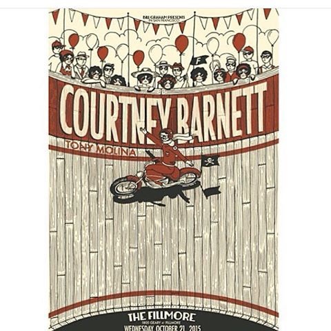 another fun one for The Fillmore SF, this time for Courtney Barnett.