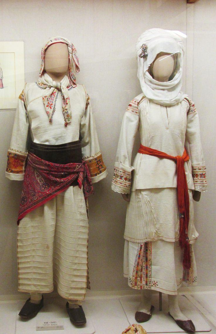 Παραδοσιακές γιορτινές φορεσιές απο το Πυργί της Χίου