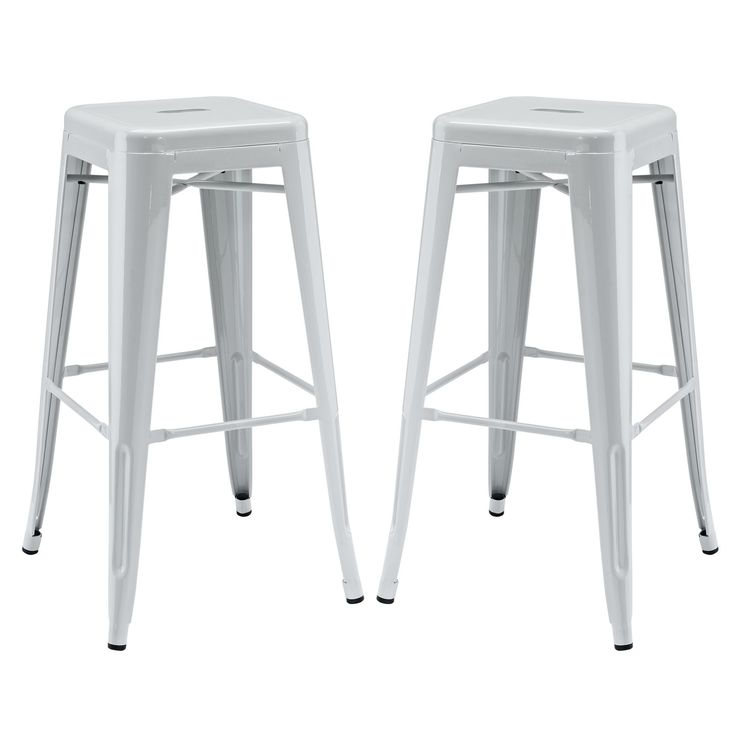 Gathering Bar Stool Set Of 2 EEI 1304 GRY By LexMod