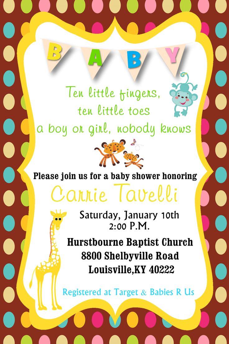 17 best Baby Shower invites images on Pinterest | Baby shower ...