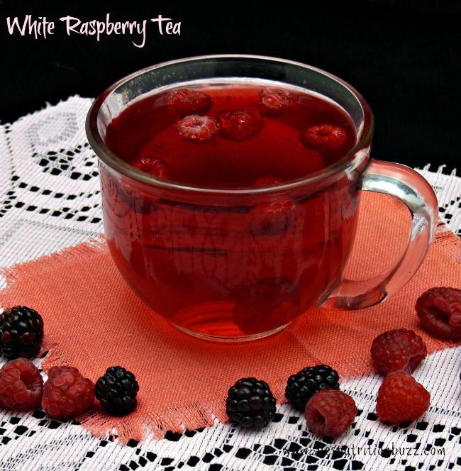 White Tea w/raspberries, honey & lemon - Having it with breakfast and I love it!
