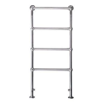 Cotswold windrush 1550mm x 600mm traditional towel rail - chrome