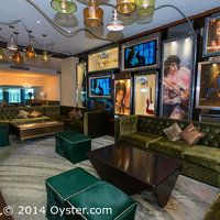 Lobby bar seating area at the Hard Rock Hotel Cancun