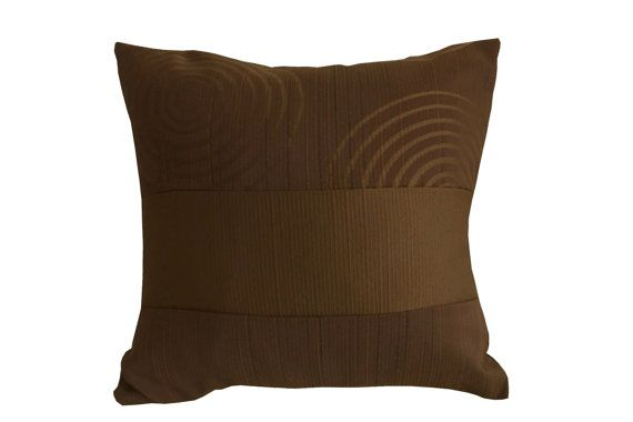 Brown circles, Very dark purple Stripe, Decorative Throw Pillow Covers, Couch Pillow, Decorative pillow, Contemporary pillow