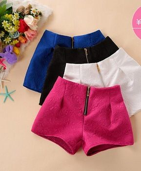 2015 marca moda mujer vaqueros pantalones cortos del patrón del brocado Casual mujeres señora pantalones cortos del todo fósforo del verano primavera CL1678