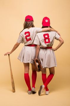 DIY Halloween Costumes Ideas - A League of Their Own Movie Characters Womens Baseball Costumes Tutorial via Camille Styles