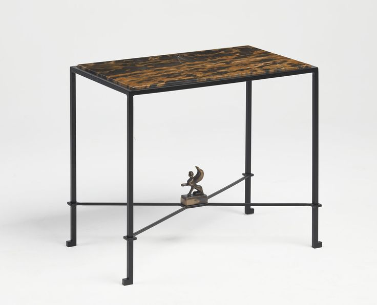 Vitorino SideTable | | Bronze, steel, black and gold marble