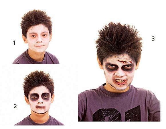 Maquillaje de zombie, Frankenstein y Hombre Lobo para Hallowen