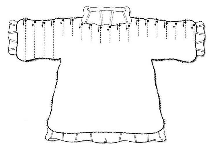 Графомоторика: проведи дорожки. Одежда