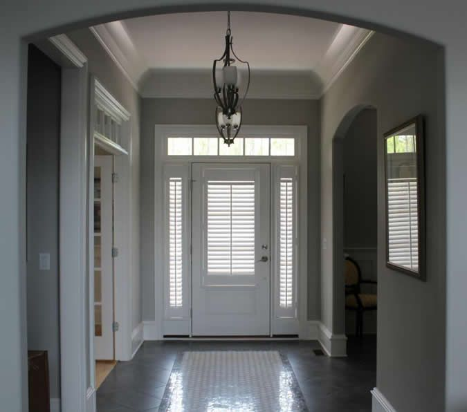 Plantation Shutters Front Door Sidelights Google Search