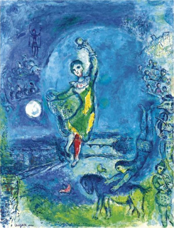 chagall | Chagall Paris juggler. 1969. Oil on canvas. 115,5 x 89. Sotheby's. 05 ...