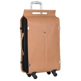... Valise trolley en cuir 4 roues Solano, collection Quatre Vents de Kategatt chez Utile et