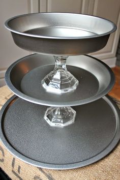 Very easy tutorial to make this tiered tray for $5!