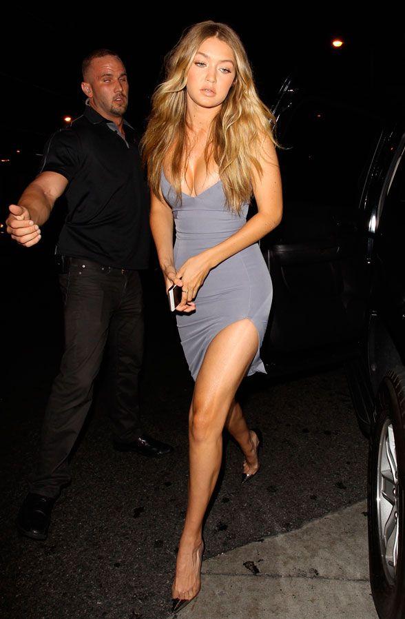A modelo Gigi Hadid usa truques que alongam as pernas.