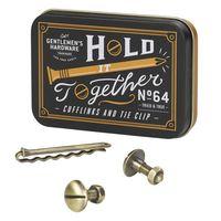 Gents Hardware Cufflinks & Tie Clip