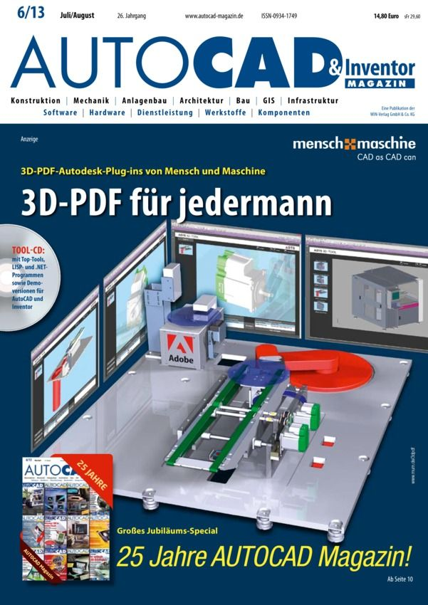 AUTOCAD & Inventor Magazin Deutsch Magazine - Buy, Subscribe, Download and Read AUTOCAD & Inventor Magazin on your iPad, iPhone, iPod Touch, Android and on the web only through Magzter