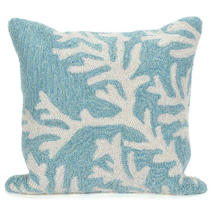 Liora Manne Coral Throw Pillow, Blue