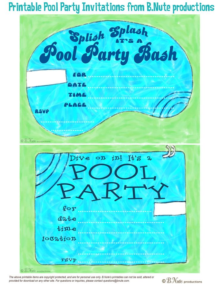 58 best Pool party invitations & favors images on Pinterest ...