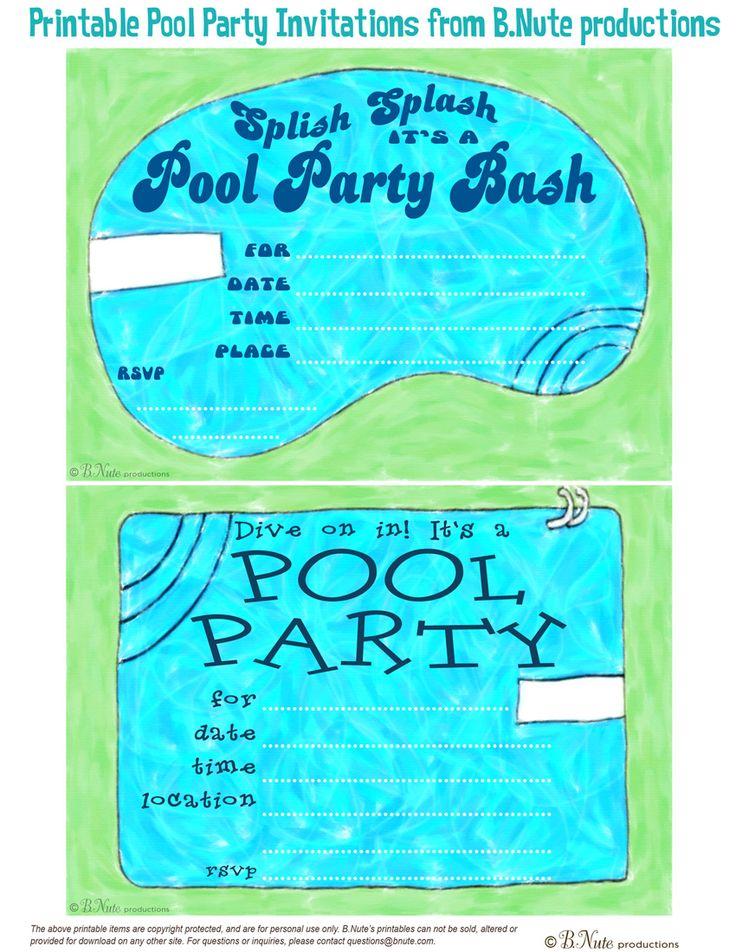 4fa972d06ad3fe1f9a35ce64d2a8f9fb pool parties birthday pool party invitations 58 best pool party invitations & favors images on pinterest,Pool Party Birthday Invitations Free Printable