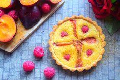 Healthy, gluten free plum tart recipe from MyNutriCounter