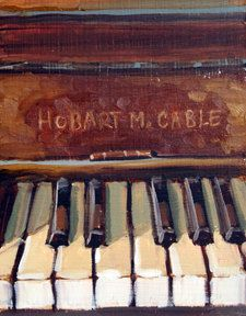 Art Print of Original oil painting Piano by Oilandwaterstudios, $18.00