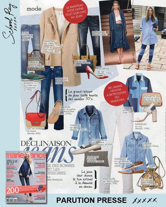 Vu dans le dernier Marie France : notre jean Plum Wide SCHOOL RAG #Jeans #Evasé