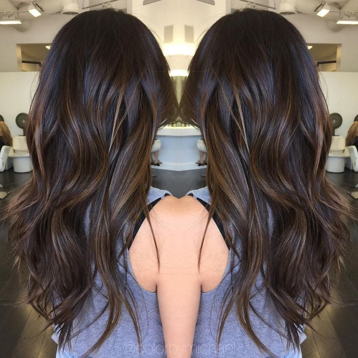 """Goodbye summer!! Fall tones are back in season!!! Dark & rich brunette sombre."